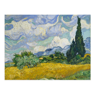 Van Gogh Wheat Field with Cypresses Postcard