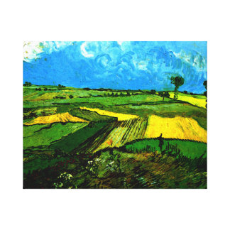 Van Gogh - Wheat Fields at Auvers under Cloudy Sky Canvas Print