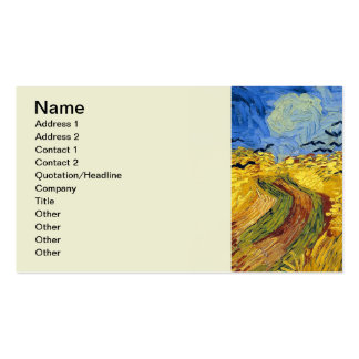 Van gogh wheat fields famous painting business card