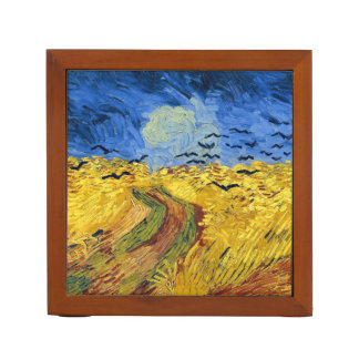 Van gogh wheat fields famous painting pencil holder