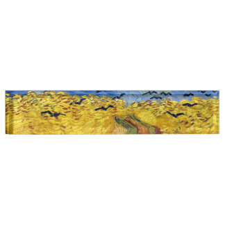 Van gogh wheat fields famous painting desk name plates