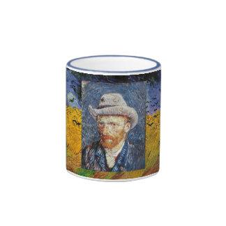 Van Gogh Wheatfield Ringer Coffee Mug