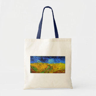 Van Gogh Wheatfield with Crows F779 Fine Art Tote Bags