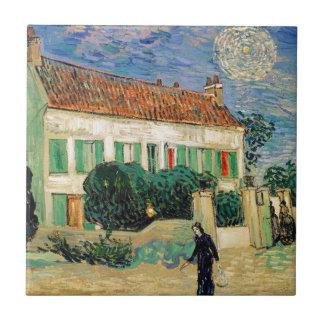 Van Gogh White house night Tile