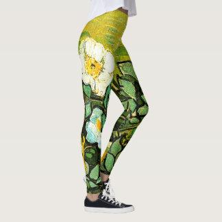Van Gogh, Wild Roses Leggings