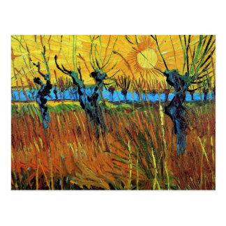 Van Gogh Willows at Sunset (F572) Fine Art Postcard