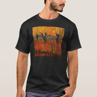 Van Gogh Willows at Sunset, Vintage Impressionism T-Shirt