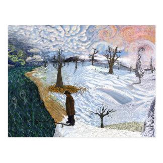 Van Gogh: Winter Landscape Postcard
