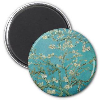 Van gogh's Almond Blossom 2 Inch Round Magnet