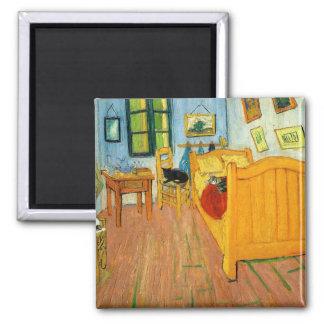 Van Gogh's Bed Square Magnet