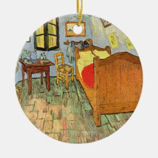 Van Gogh's Bedroom Round Ceramic Ornament