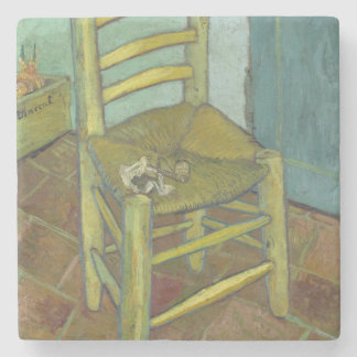 Van Gogh's Chair by Vincent Van Gogh Stone Coaster