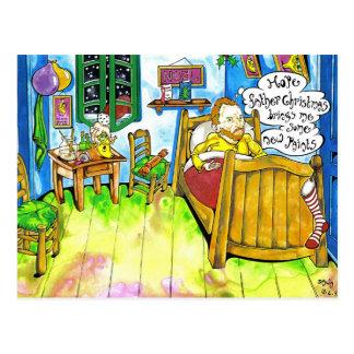 Van Goghs Christmas Postcard