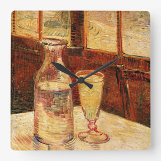 Van Gogh's 'Glass of Absinthe and a Carafe' Clock