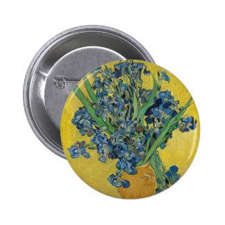 Van Gogh's Iris 2 Inch Round Button