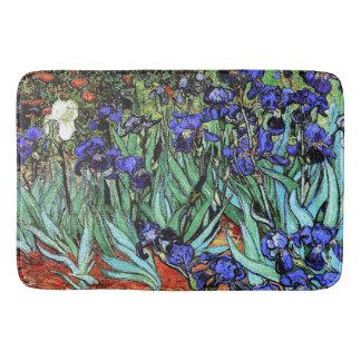 Van Goghs Irises Flowers Floral Garden Bath Mat