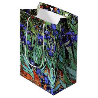 Van Goghs Irises Flowers Floral Gift Bag
