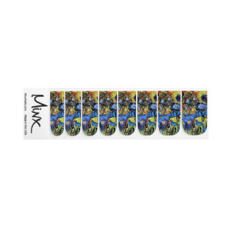 Van Goghs Irises Flowers Painting Minx Nails Minx Nail Art