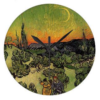 Van Gogh's 'Landscape w/ Couple Walking' Clock