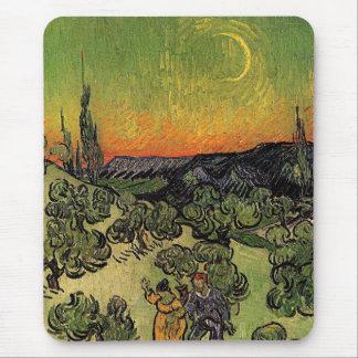 Van Gogh's 'Landscape w/ Couple Walking' Mousepad Mouse Pad