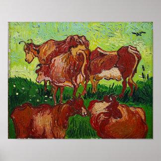 Van Gogh's 'Les Vaches' Poster