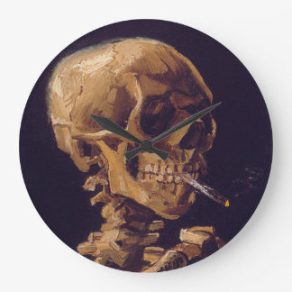 Van Gogh's 'Skull with a Burning Cigarette' Clock