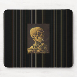 "Van Gogh's ""Smoking Skeleton"" Mouse Pad"