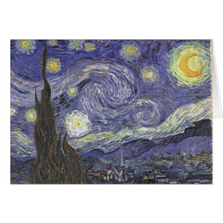 Van Gogh's Starry Night Classic Painting Greeting Card