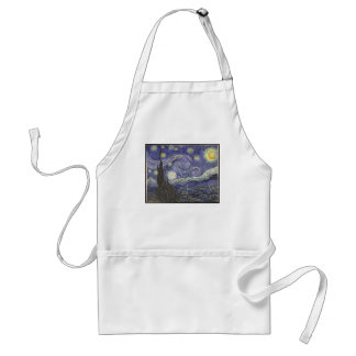 Van Gogh's Starry Night Classic Painting Standard Apron