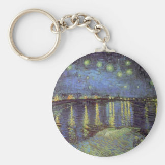 Van Gogh's Starry Night Painting Keychain