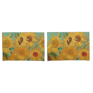 Van Gogh's Sunflowers Pillowcase