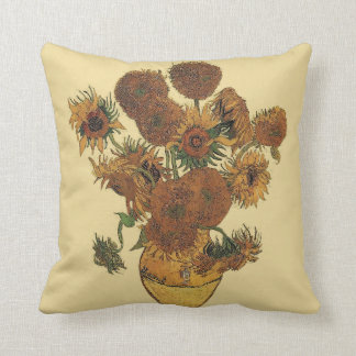 van Gogh's Sunflowers Throw Pillow
