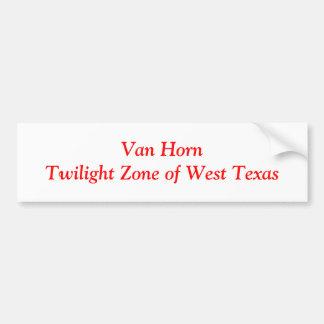 Van Horn Bumper Sticker