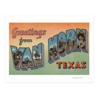 Van Horn, Texas - Large Letter Scenes Postcard