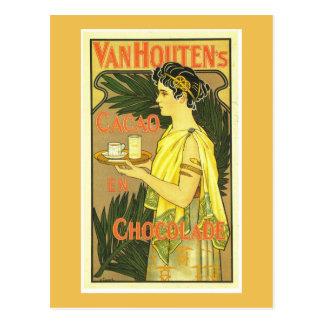 Van Houten's Cacao en Chocolade Vintage Postcard