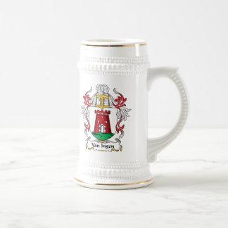 Van Ingen Family Crest Beer Stein