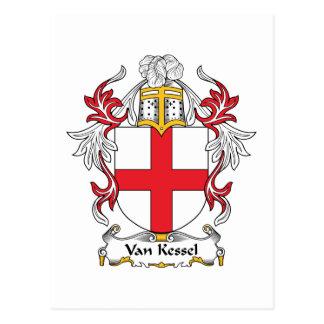Van Kessel Family Crest Postcard