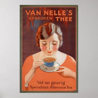 Van Nelle's Gebroken Thee Vintage Art Poster Print