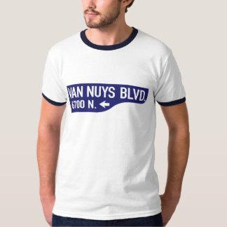 Van Nuys Boulevard, Los Angeles, CA Street Sign Tee Shirts