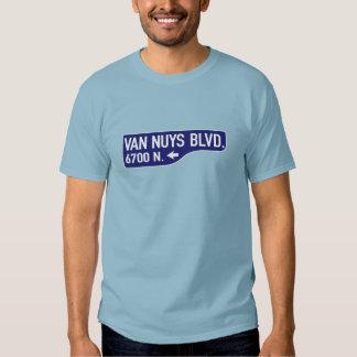 Van Nuys Boulevard, Los Angeles, CA Street Sign Tshirts