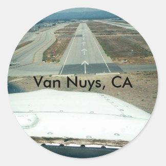 Van Nuys, CA Round Sticker