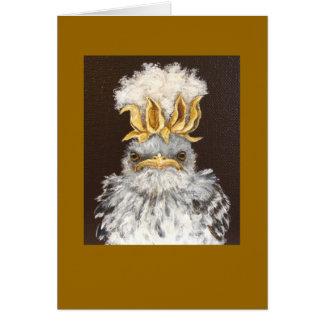 Van the ornery baby mockingbird card