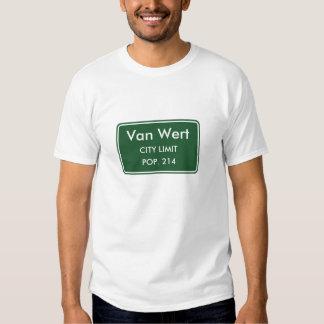 Van Wert Iowa City Limit Sign T Shirts