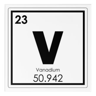 Vanadium gifts on zazzle ca - Vanadium symbol periodic table ...
