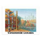 Vancouver Art Postcard Vancouver Totem Pole Cards