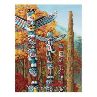 Vancouver Art Postcard Vancouver Totem Pole Painti
