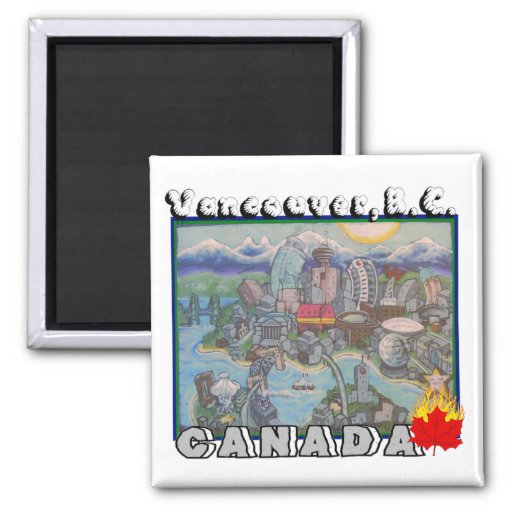 Vancouver B.C. Canada Magnet