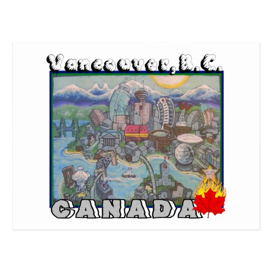 Vancouver B.C. Canada Postcard