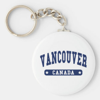 Vancouver Basic Round Button Keychain
