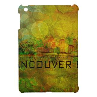 Vancouver BC City Skyline on Grunge Background Ill iPad Mini Covers